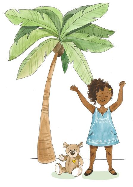 Petite fille au palmier V2